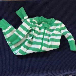 Hanna Andersson green stripe pajama 50